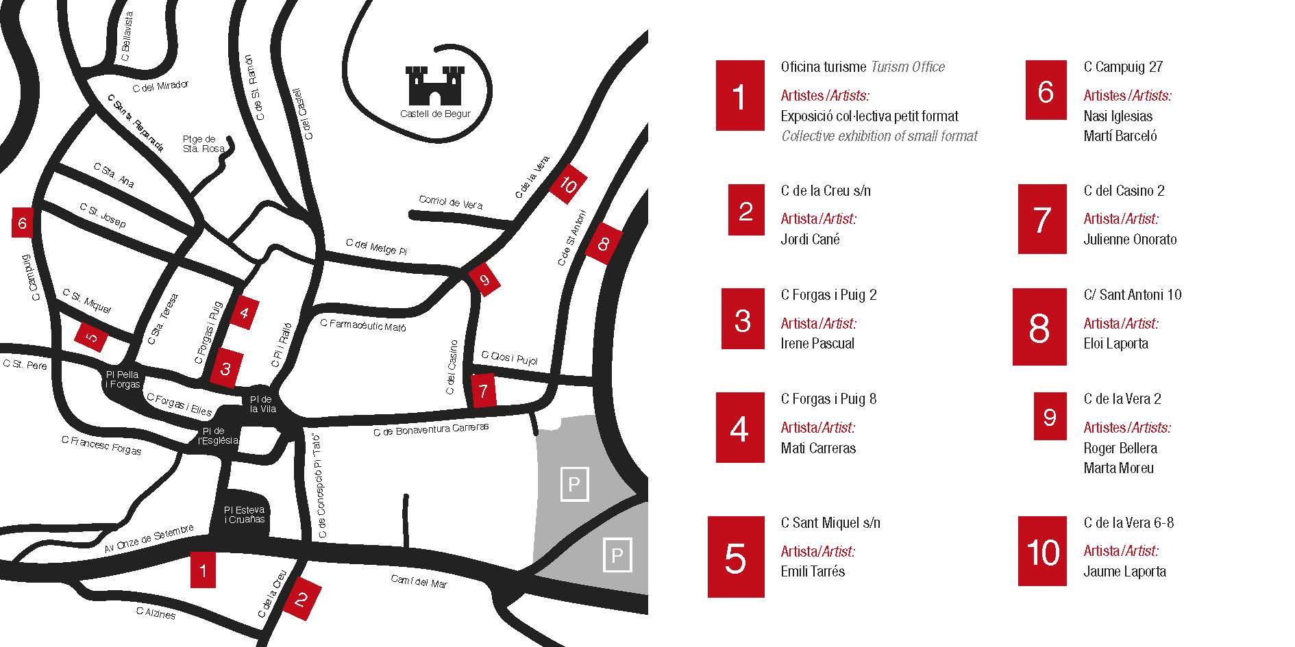 mapa ArtVillage begur 2015
