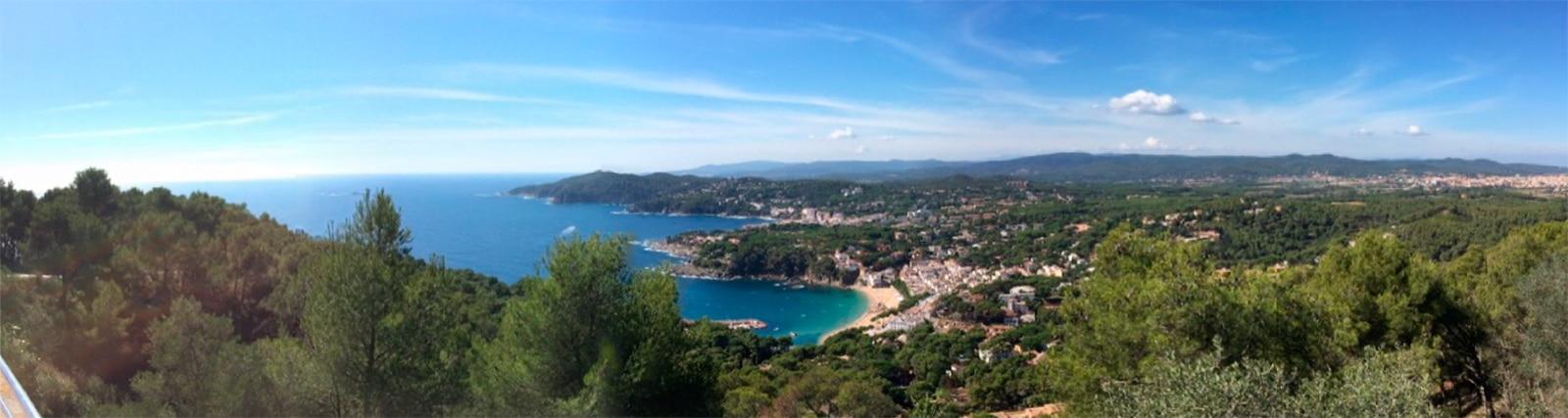 panorámica desde el Faro de San Sebastián mirando a Llafranc