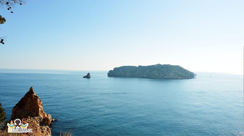 Cap de la barra - islas Medes - mirador Costa Brava