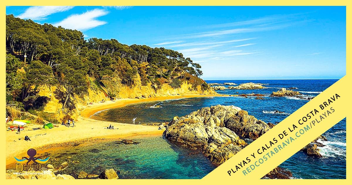 Mapa Costa Brava Playas.Playas Y Calas De La Costa Brava Red Costa Brava