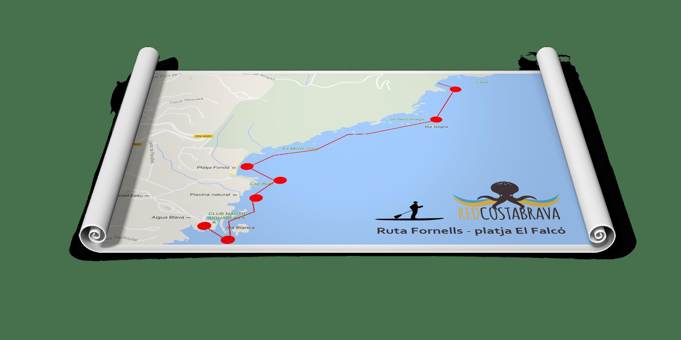 ruta desde el puerto de Fornells a la playa El Falcó