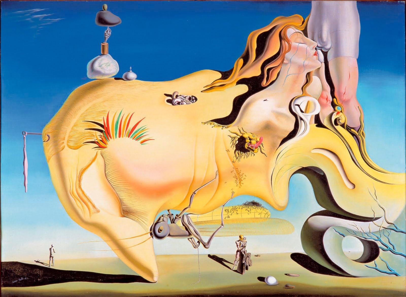 El gran mastrubador - Obra de Slavador Dalí